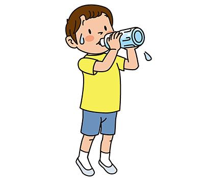 水分補給が大切です!
